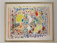 Pablo Picasso. Lithograph, Le Picador II