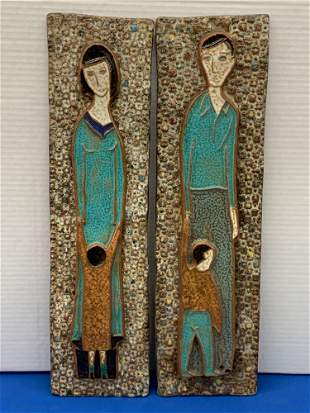 Pair of Harris Strong Ceramic Wall Plaques