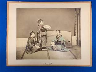 Two Photographs Attributed to Kusakabe Kimbei