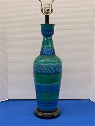 Aldo Londi for Bitossi Pottery Table Lamp