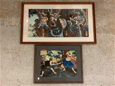 Two 19th C Japanese Woodblock Prints