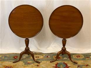 Pair of Kittinger Williamsburg Candle Stands