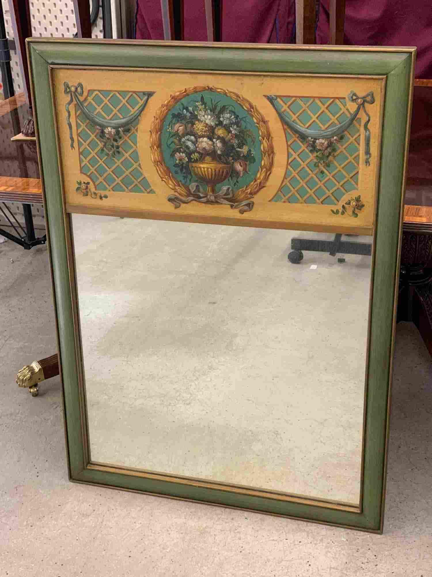 Vintage Painted Trumeau Mirror