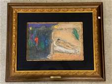 Marc Chagall Signed Lithograph Hymenee