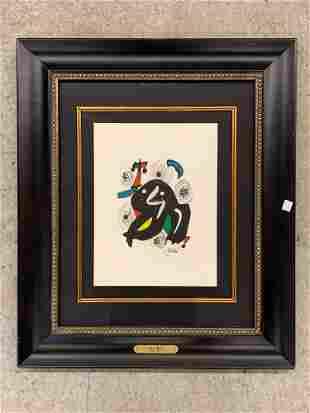 Joan Miro. Lithograph, La Melodie Acide