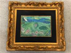 Marc Chagall Signed Lithograph Le Verger