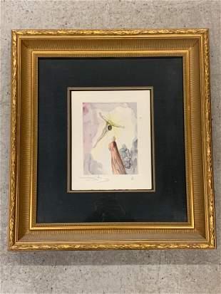 Salvador Dali. Signed Lithograph, Paradise 14