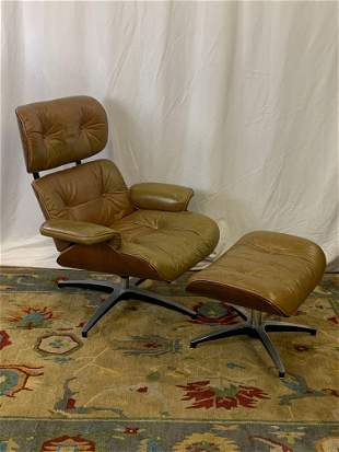 Selig Eames-style Lounge Chair and Ottoman
