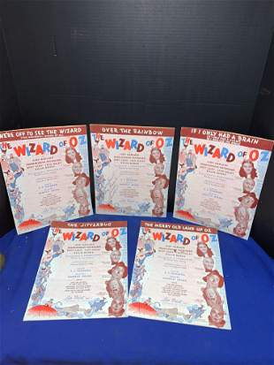 Harold Arlen Signed Wizard of Oz Sheet Music