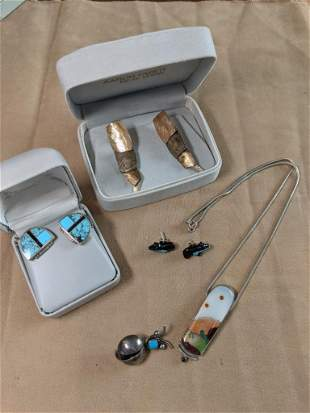 Southwestern Sterling Jewelry Grouping