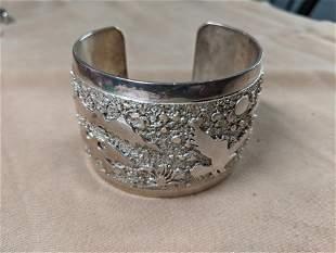 Southwestern Silver Cuff Bracelet with Animals