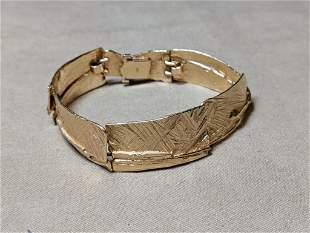 14K Gold Artisan Bracelet