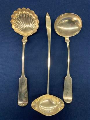 Three American Coin Silver Ladles