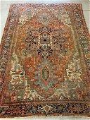 Antique Heriz Rm-sz Carpet: 13ft 8in x 9ft 3in