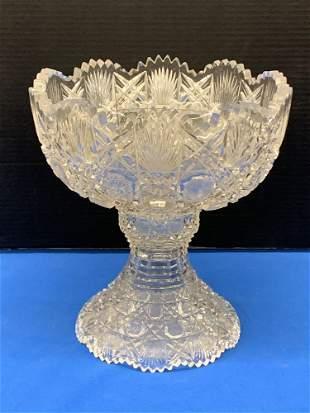 American Brilliant Period Cut Glass Punch Bowl