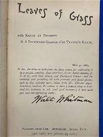 Walt Whitman Signed Copy of Leaves of Grass