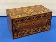 19th C. Inlaid Rosewood Box