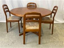 Danish Teak Dining Table and Four Chairs