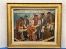 Abraham Walkowitz. Oil/Canvas Gloucester Fisherman