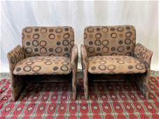 Pair of Saporiti Italia Arm Chairs