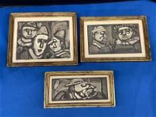 Three Framed George Rouault Etchings