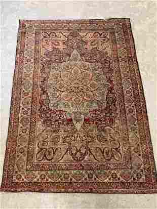 Antique Kirman Area Carpet, 6ft 2in x 4ft 5in