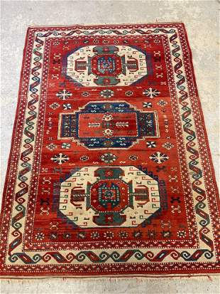 Caucasian-style Area Carpet, 6ft 11in x 4ft 10in