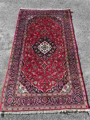 Persian Area Carpet, 8ft 8in x 4ft 11in