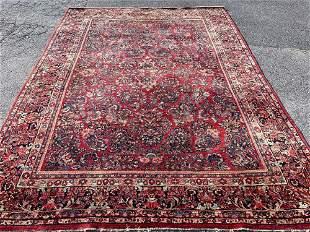 Persian Sarouk Rm-size Carpet, 11ft 10in x 8ft 9in
