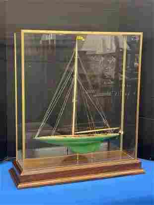 Cased Model of Ship: The Shamrock V