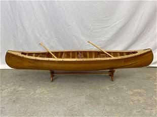 Scale Model Miniature Canoe