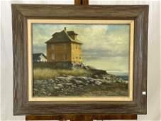Douglas Remley. Oil/Panel, Maine Landscape