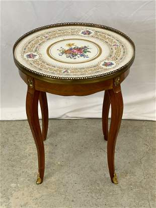 French Sevres-style Porcelain Inset Table