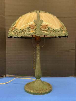 Miller Caramel Slag Glass Table Lamp