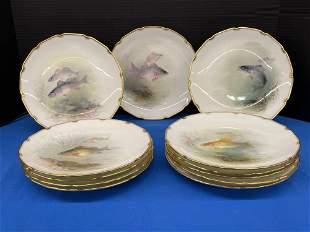 Set of Twelve Royal Doulton Fish Plates