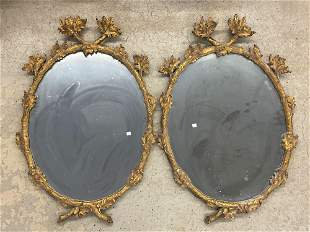 Pair of Continental Giltwood Mirrors