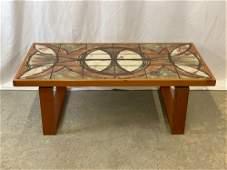 Danish Modern Teak Tile-top Table