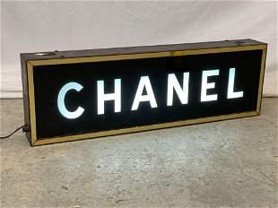 Vintage Chanel Store Display Illuminated Sign
