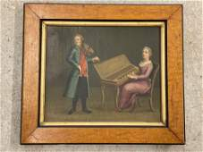 European School. Oil/Canvas, Musicians