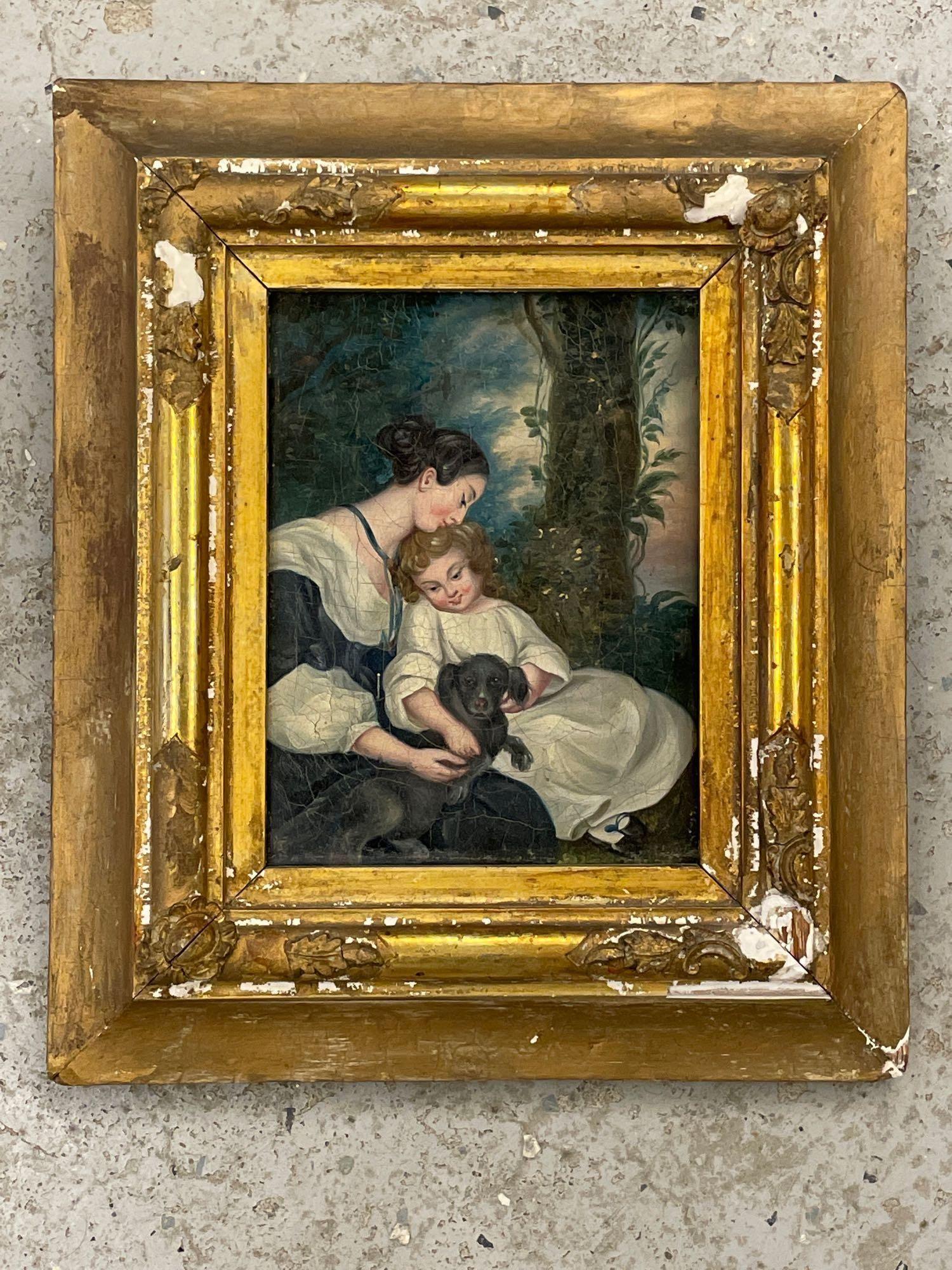European School. Oil/Canvas, The Family Dog