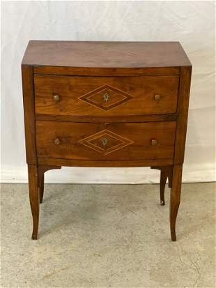 Continental Inlaid Two-drawer Commode