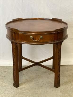 Baker Georgian-style Mahogany Lamp Table