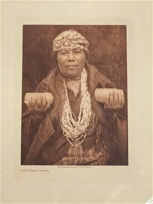 Edward Curtis. Photogravure, Hupa Female Shaman