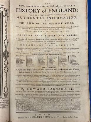Edward Barnard. Complete History of England