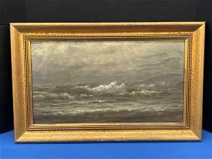Gilt Framed Oil/Canvas Seascape