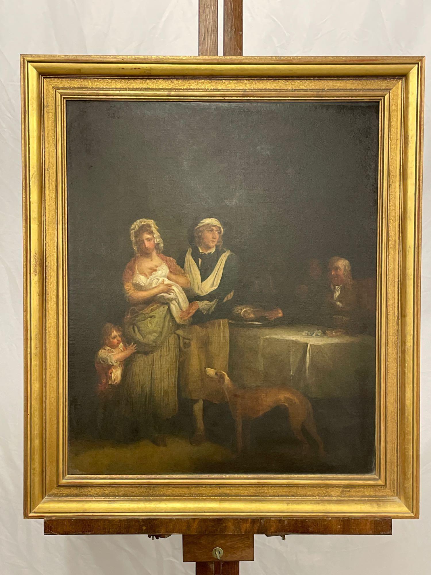 19th C. Oil/Canvas, Interior Genre Scene