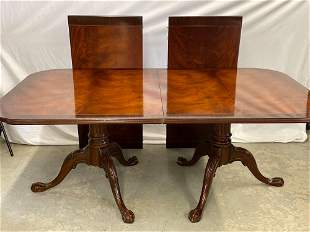 Chippendale-style Mahogany Extension Dining Table