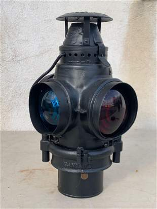 Adlake Santa Fe Railroad Signal Lantern