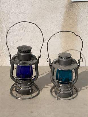 Two Dietz Railroad Lanterns