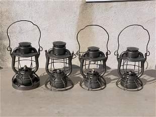 Four Dietz Railroad Lanterns